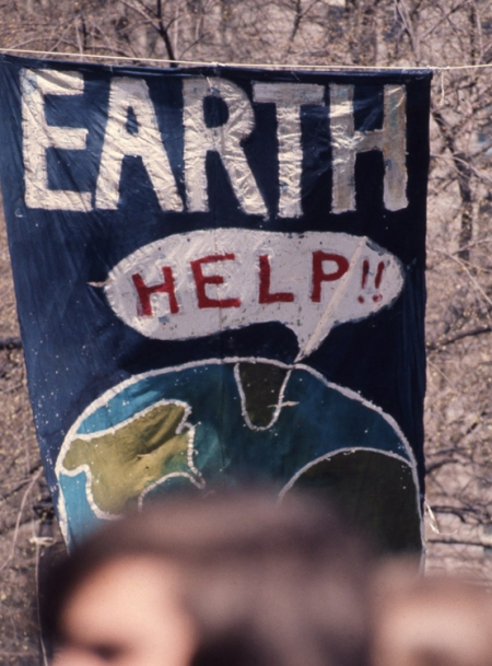 Banner the first Earth Day